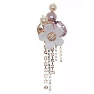 Marc Jacobs Daisy Sparkle Blush Rose Multi Brooch